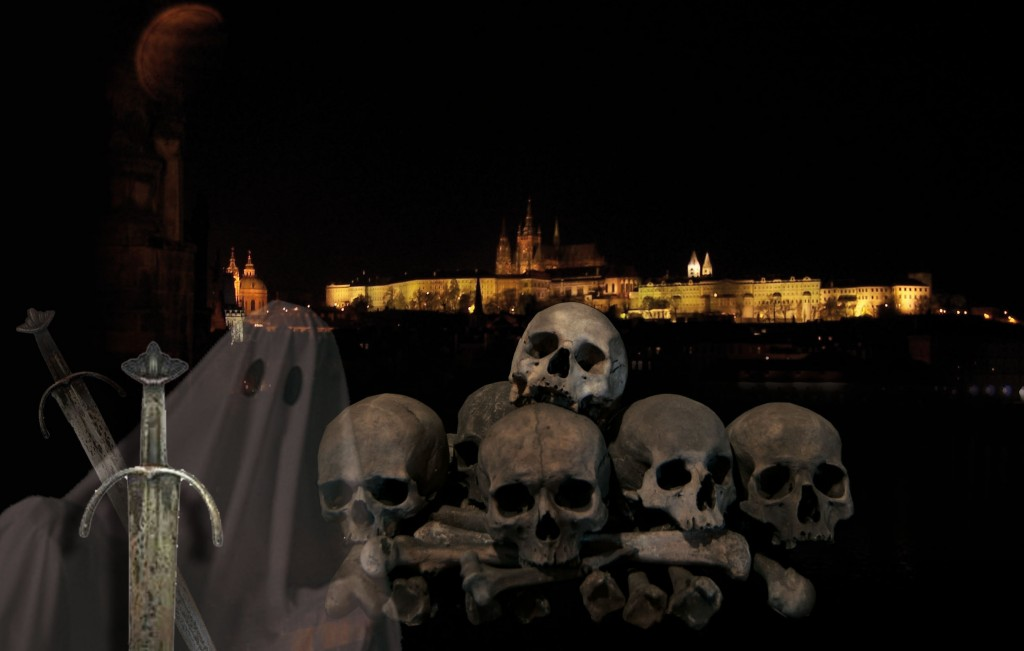 Ночная Прага с призраками и привидениями