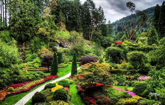 Ботанический сад в Бухаресте в районе Котрочень