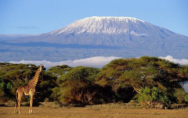 Килиманджаро - вулкан в Африке, находящийся на северо-востоке Танзании