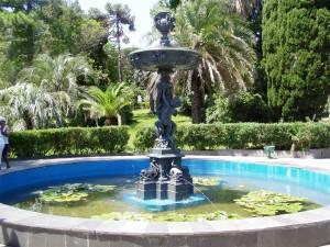 Центральный фонтан «Амуры» в Сочинском дендрарии в Хосте