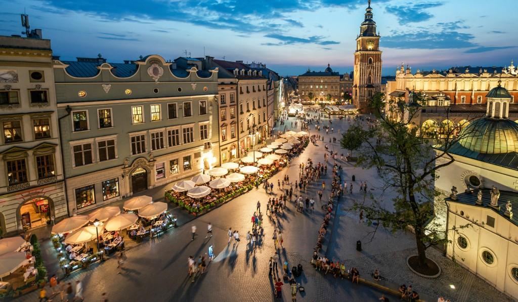 Краков -популярный город для туристов