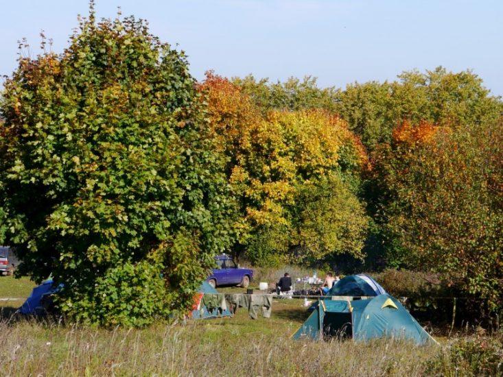 Палаточный лагерь в Камском Устье
