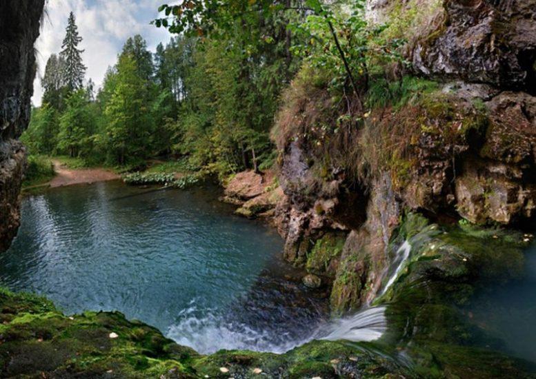 Водопад Атыш в Башкирии