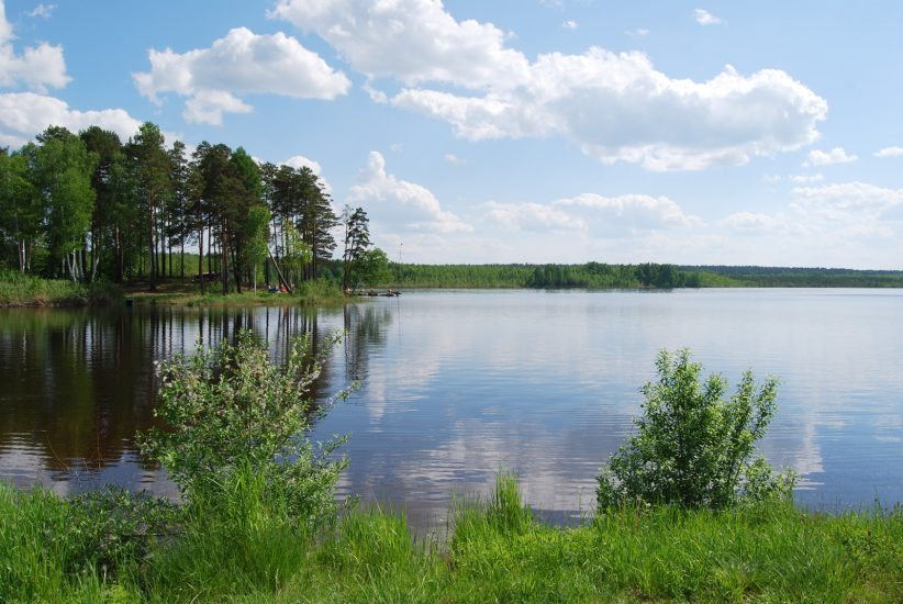 Озеро Гурино на Урале