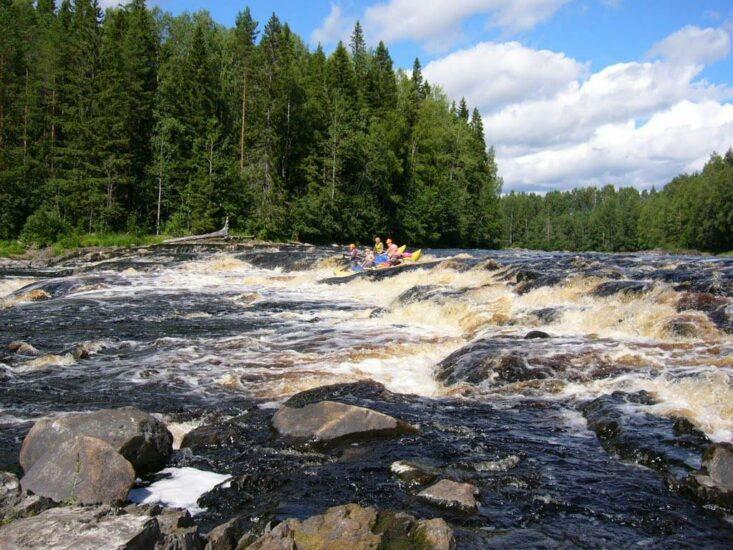 Порог Кеняйкоски на реке Шуя