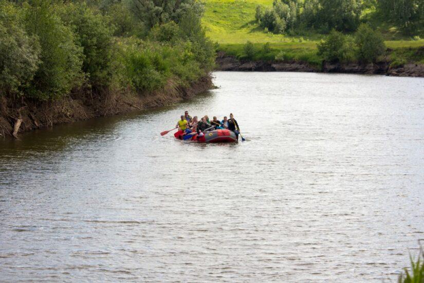 Сплав на байдарках по реке Пьяне